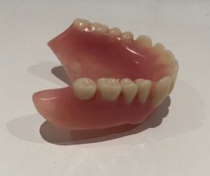 before denture cleaning